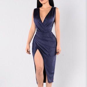 Fashion nova suede dress
